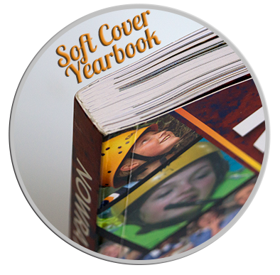 Soft Cover School Yearbook Edge Detail